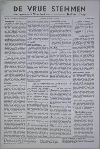 Vrije Stemmen van Schouwen-Duiveland, tevens mededeelingenblad Militair Gezag 1945-08-25
