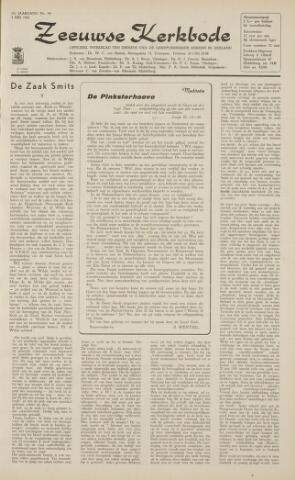 Zeeuwsche kerkbode, weekblad gewijd aan de belangen der gereformeerde kerken/ Zeeuwsch kerkblad 1962-05-04