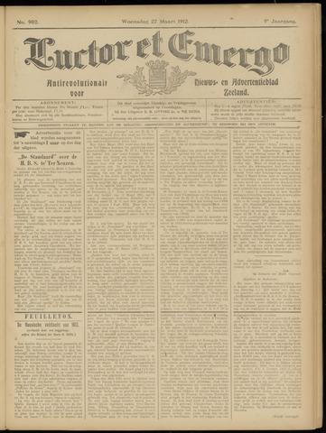 Luctor et Emergo. Antirevolutionair nieuws- en advertentieblad voor Zeeland / Zeeuwsch-Vlaanderen. Orgaan ter verspreiding van de christelijke beginselen in Zeeuwsch-Vlaanderen 1912-03-27