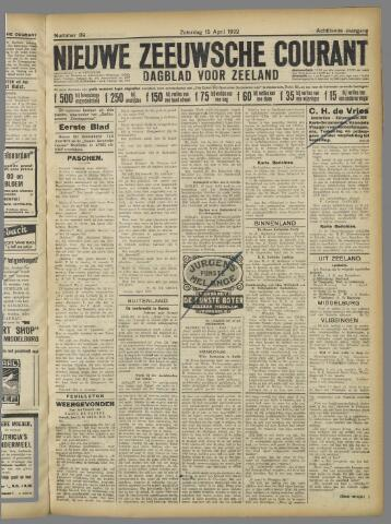 Nieuwe Zeeuwsche Courant 1922-04-15