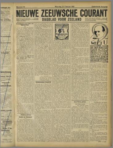 Nieuwe Zeeuwsche Courant 1921-02-21