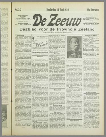 De Zeeuw. Christelijk-historisch nieuwsblad voor Zeeland 1930-06-12