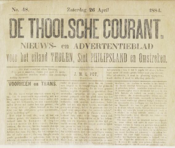 Ierseksche en Thoolsche Courant 1884-04-26