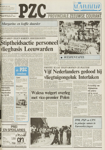Provinciale Zeeuwse Courant 1983-08-23