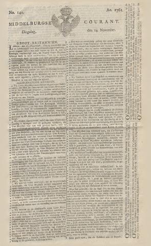 Middelburgsche Courant 1761-11-24