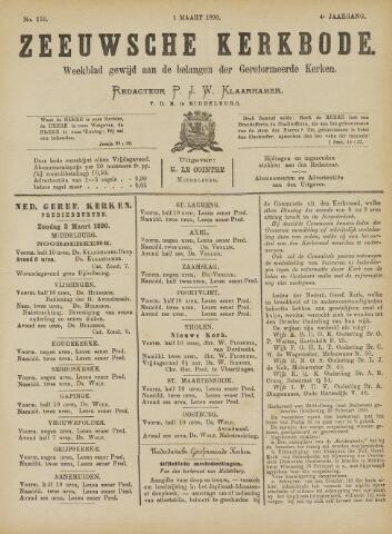 Zeeuwsche kerkbode, weekblad gewijd aan de belangen der gereformeerde kerken/ Zeeuwsch kerkblad 1890-03-01