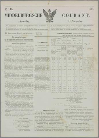 Middelburgsche Courant 1854-11-11