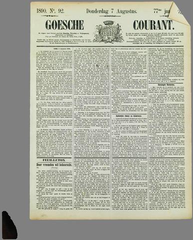 Goessche Courant 1890-08-07