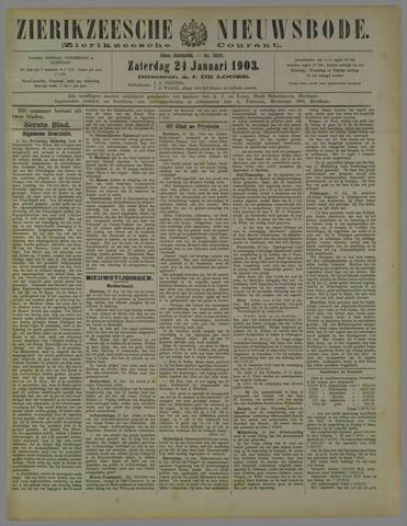 Zierikzeesche Nieuwsbode 1903-01-24