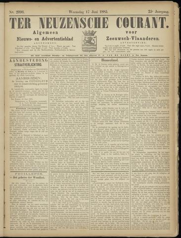 Ter Neuzensche Courant. Algemeen Nieuws- en Advertentieblad voor Zeeuwsch-Vlaanderen / Neuzensche Courant ... (idem) / (Algemeen) nieuws en advertentieblad voor Zeeuwsch-Vlaanderen 1885-06-17