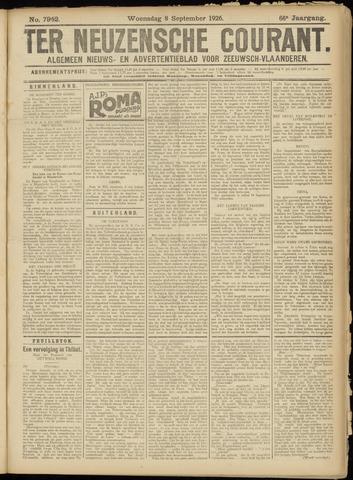 Ter Neuzensche Courant. Algemeen Nieuws- en Advertentieblad voor Zeeuwsch-Vlaanderen / Neuzensche Courant ... (idem) / (Algemeen) nieuws en advertentieblad voor Zeeuwsch-Vlaanderen 1926-09-08