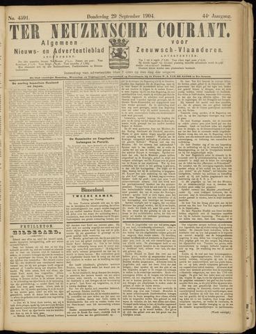 Ter Neuzensche Courant. Algemeen Nieuws- en Advertentieblad voor Zeeuwsch-Vlaanderen / Neuzensche Courant ... (idem) / (Algemeen) nieuws en advertentieblad voor Zeeuwsch-Vlaanderen 1904-09-29