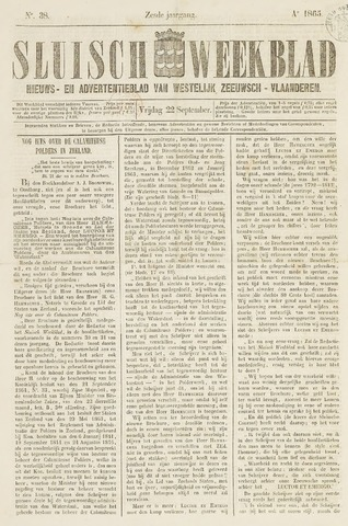 Sluisch Weekblad. Nieuws- en advertentieblad voor Westelijk Zeeuwsch-Vlaanderen 1865-09-22