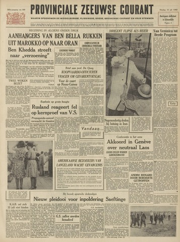 Provinciale Zeeuwse Courant 1962-07-10