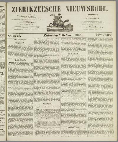 Zierikzeesche Nieuwsbode 1865-10-07