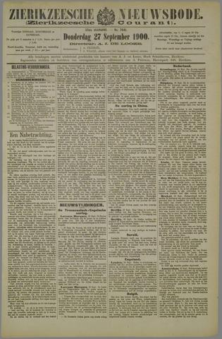 Zierikzeesche Nieuwsbode 1900-09-27