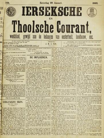 Ierseksche en Thoolsche Courant 1892-01-23
