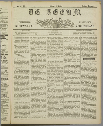 De Zeeuw. Christelijk-historisch nieuwsblad voor Zeeland 1898-10-08