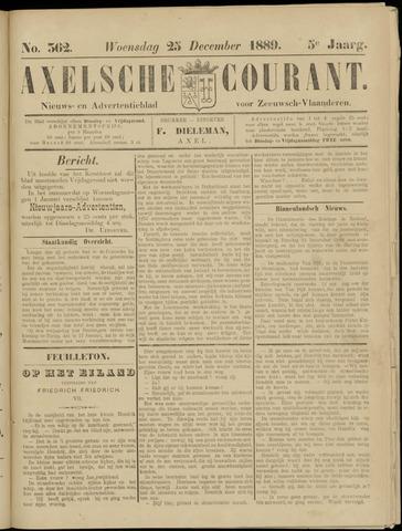 Axelsche Courant 1889-12-25