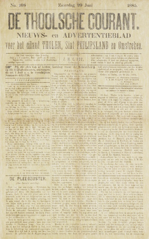 Ierseksche en Thoolsche Courant 1885-06-20