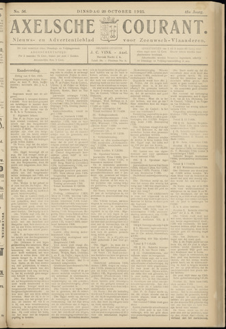Axelsche Courant 1925-10-20
