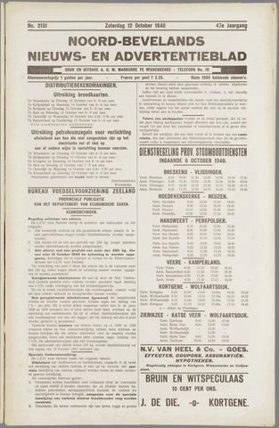 Noord-Bevelands Nieuws- en advertentieblad 1940-10-12