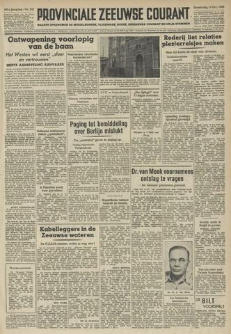 Provinciale Zeeuwse Courant 1948-10-14