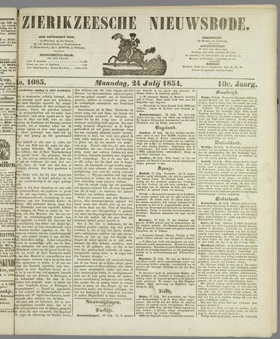 Zierikzeesche Nieuwsbode 1854-07-24