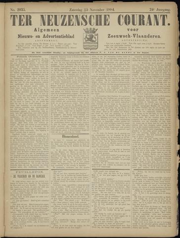 Ter Neuzensche Courant. Algemeen Nieuws- en Advertentieblad voor Zeeuwsch-Vlaanderen / Neuzensche Courant ... (idem) / (Algemeen) nieuws en advertentieblad voor Zeeuwsch-Vlaanderen 1884-11-15