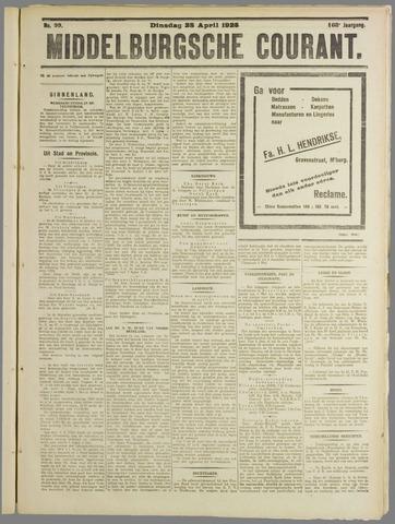 Middelburgsche Courant 1925-04-28