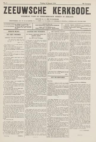 Zeeuwsche kerkbode, weekblad gewijd aan de belangen der gereformeerde kerken/ Zeeuwsch kerkblad 1936-01-24