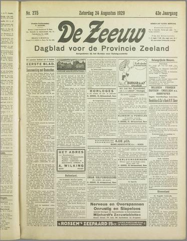 De Zeeuw. Christelijk-historisch nieuwsblad voor Zeeland 1929-08-24