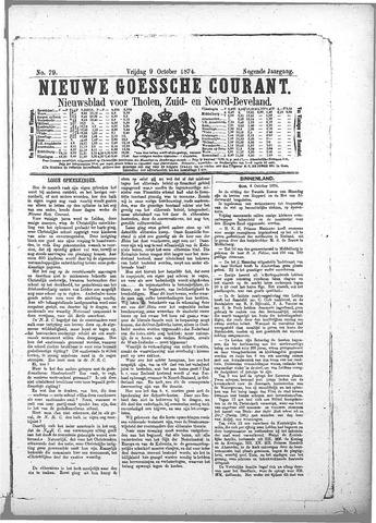 Nieuwe Goessche Courant 1874-10-09