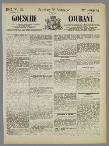 Goessche Courant 1883-09-22