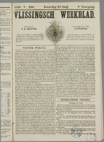Vlissings Weekblad 1867-06-22