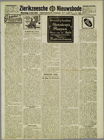 Zierikzeesche Nieuwsbode 1924-06-04