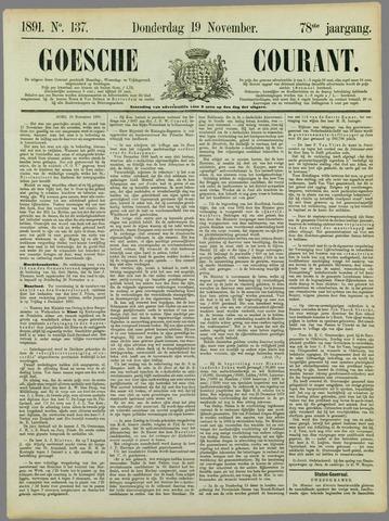 Goessche Courant 1891-11-19