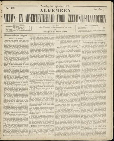 Ter Neuzensche Courant. Algemeen Nieuws- en Advertentieblad voor Zeeuwsch-Vlaanderen / Neuzensche Courant ... (idem) / (Algemeen) nieuws en advertentieblad voor Zeeuwsch-Vlaanderen 1869-09-25