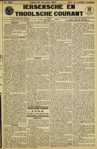 Ierseksche en Thoolsche Courant 1925-11-27