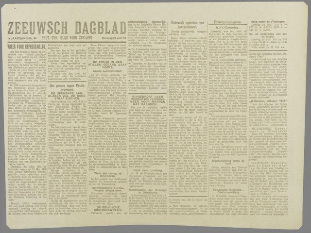 Zeeuwsch Dagblad 1945-07-24