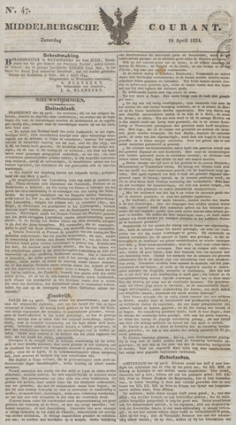 Middelburgsche Courant 1834-04-19