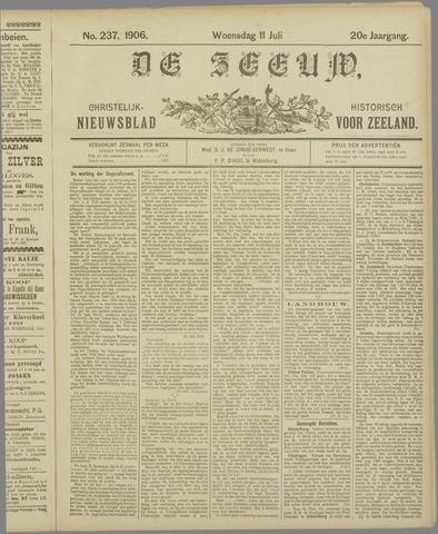 De Zeeuw. Christelijk-historisch nieuwsblad voor Zeeland 1906-07-11