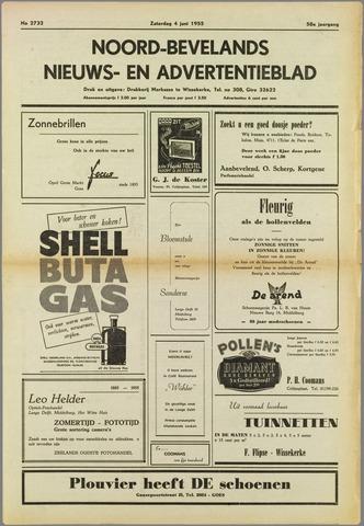 Noord-Bevelands Nieuws- en advertentieblad 1955-06-04