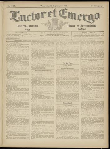 Luctor et Emergo. Antirevolutionair nieuws- en advertentieblad voor Zeeland / Zeeuwsch-Vlaanderen. Orgaan ter verspreiding van de christelijke beginselen in Zeeuwsch-Vlaanderen 1917-09-12