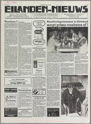 Eilanden-nieuws. Christelijk streekblad op gereformeerde grondslag 1985-02-22