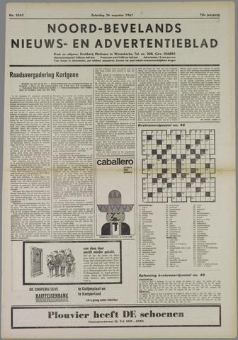 Noord-Bevelands Nieuws- en advertentieblad 1967-08-26