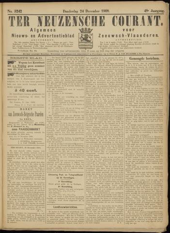 Ter Neuzensche Courant. Algemeen Nieuws- en Advertentieblad voor Zeeuwsch-Vlaanderen / Neuzensche Courant ... (idem) / (Algemeen) nieuws en advertentieblad voor Zeeuwsch-Vlaanderen 1908-12-24