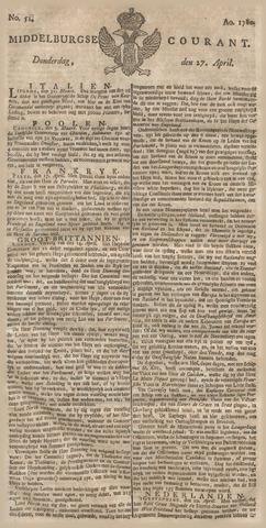 Middelburgsche Courant 1780-04-27