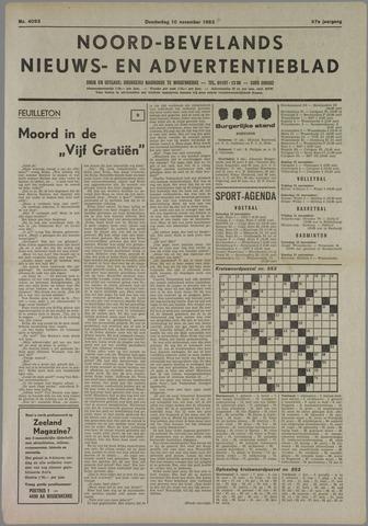 Noord-Bevelands Nieuws- en advertentieblad 1983-11-10