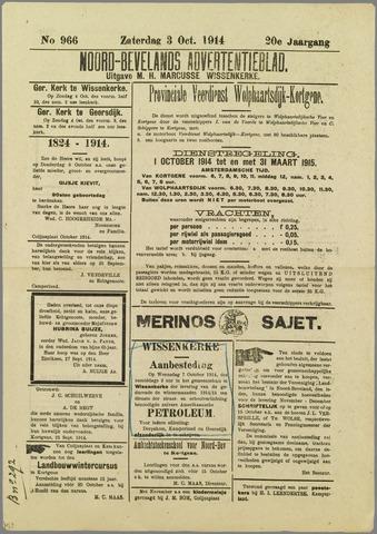 Noord-Bevelands Nieuws- en advertentieblad 1914-10-03